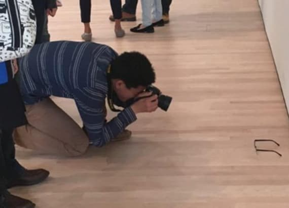 Glasses on museum floor cause hilarious incident