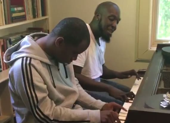 Teacher shares heartwarming video of piano lesson
