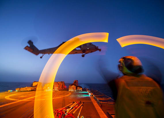 Incredibly surreal photos of the Navy at night