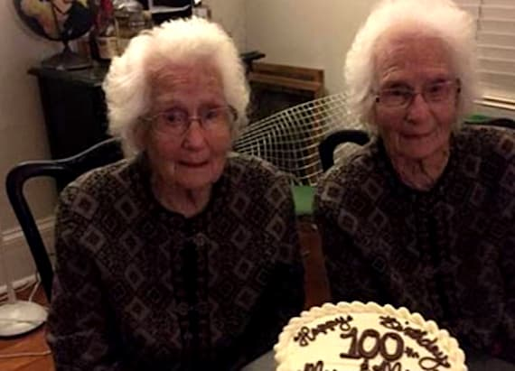 Identical twins are still inseparable at age 100