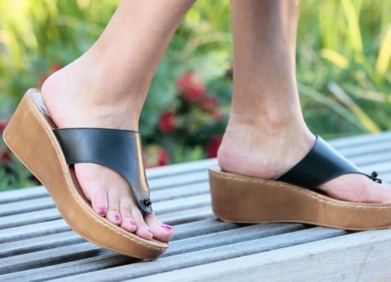 High heel style meets flip flop comfort