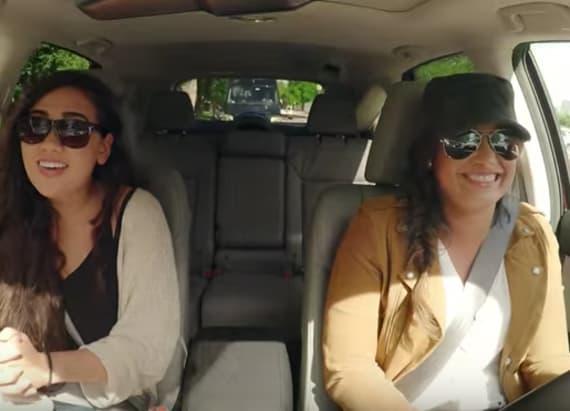 Watch Demi Lovato go undercover as Lyft driver