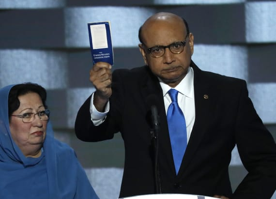 Khizr Khan burns Trump over the constitution