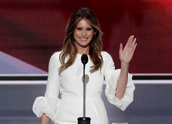 Melania's $2K RNC outfit is a wedding dress
