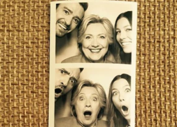 See HRC enjoying her fundraiser in a photo booth
