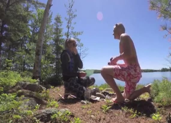 Woman digs up time capsule to find proposal