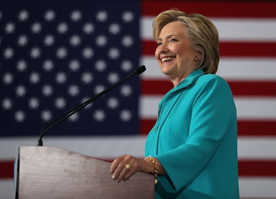 Clinton hopes to be the 'small business president'
