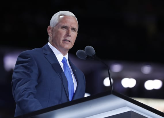 Mike Pence has first run-in with protesters in Ohio