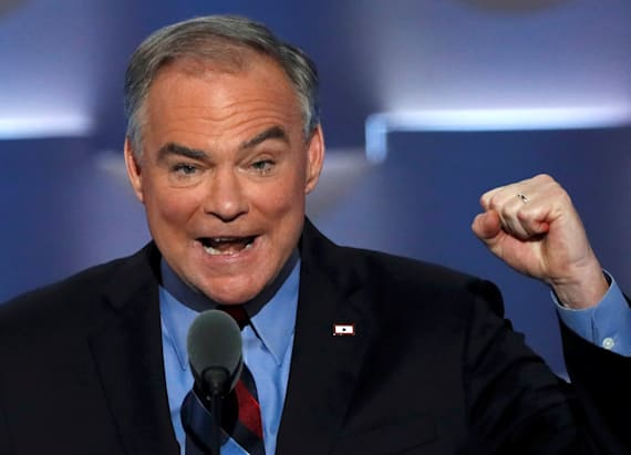 Everyone's talking about 'hot' photos of Tim Kaine