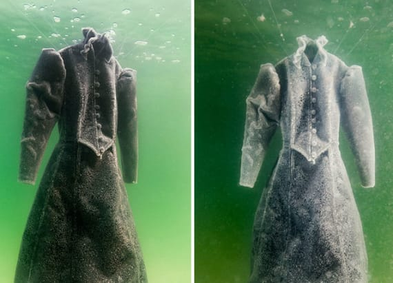 Artist submerges dress in the Dead Sea for two years