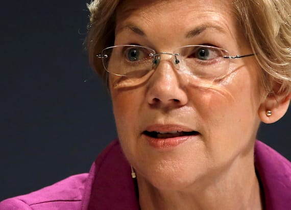 Host mocks Warren with war whoops at Trump event