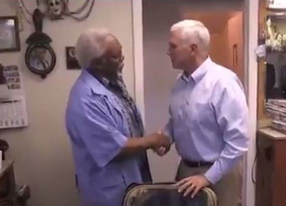 Pence has awkward encounter with voter on live video