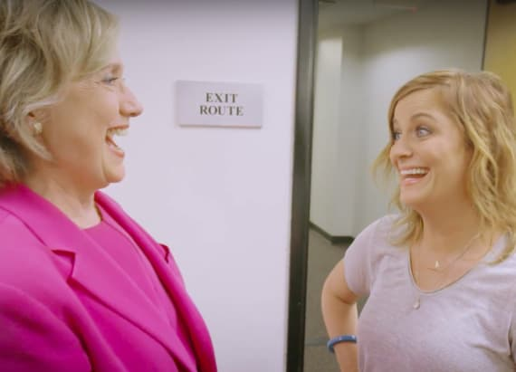 Hillary Clinton met up with Amy Poehler (!!!)
