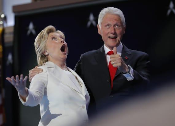 Hillary Clinton really loved the DNC balloon drop