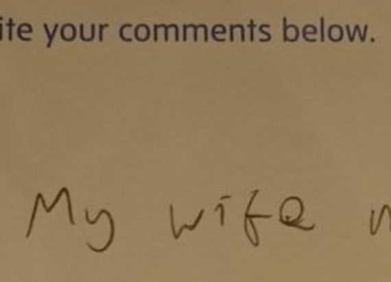 This comment card sums up how somefeel about art