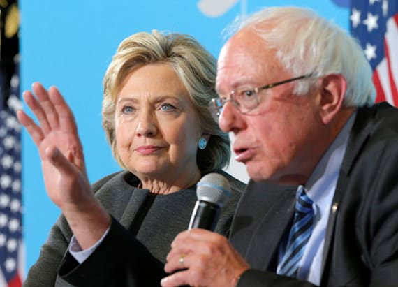 Clinton muses Sanders' supporters in leaked audio