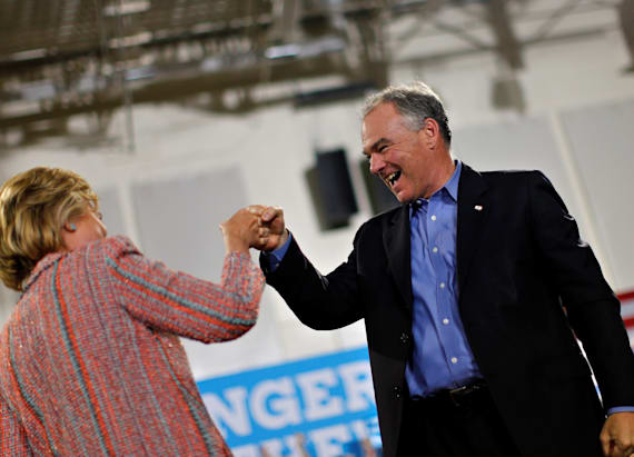 Clinton picks Kaine as her running mate