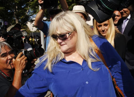 Debbie Rowe undergoing chemotherapy for cancer