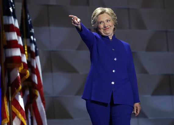 Clinton accepts Democratic presidential nomination