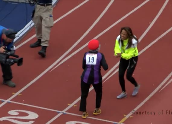 100-year-old woman sets record for 100-meter dash