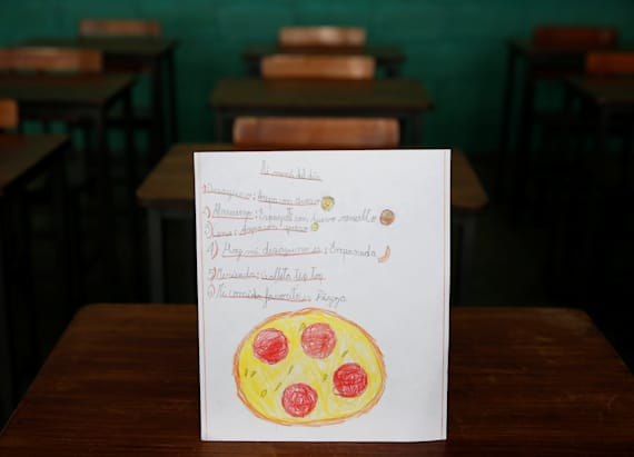 Venezuelan schoolchildren express hunger in drawings