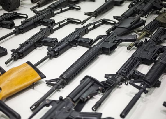 LA melts thousands of guns in mesmerizing video