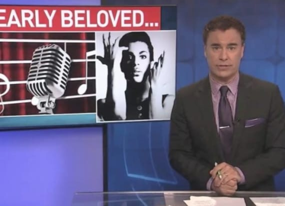 Anchor claims he was fired for on-air Prince tribute