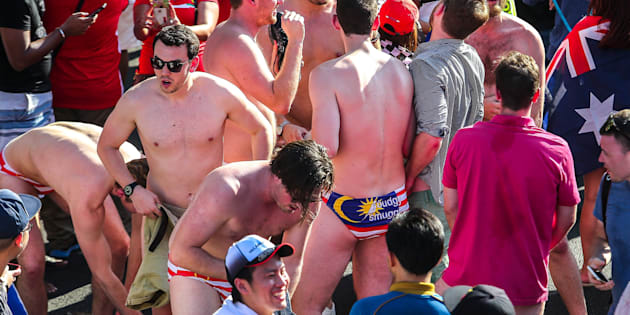 Nine Australians arrested over Malaysia-flag underwear