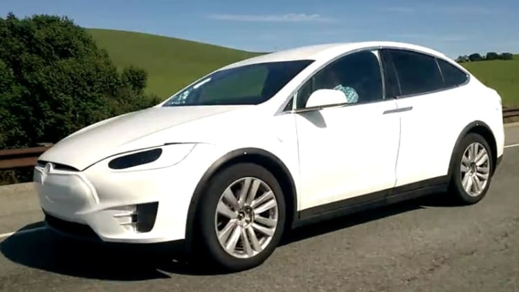 Tesla Model X spied up close in California