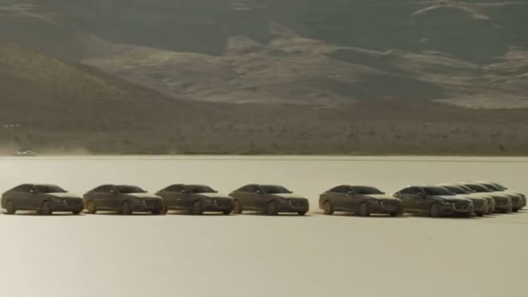 11 Hyundai Genesis deliver a message to space