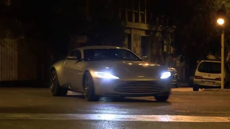 Aston and Jag from James Bond Spectre have at it