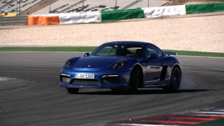 Chris Harris hits the track with the Porsche Cayman GT4