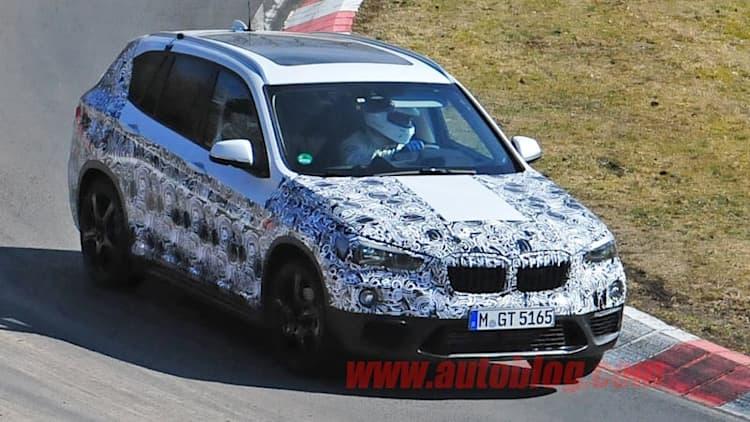 BMW X1 spied in the snow, on the 'Ring