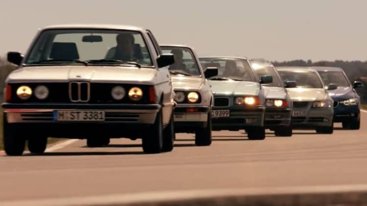 BMW owners celebrate 40 years of 3 Series