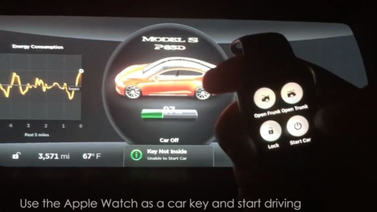 This Apple Watch can control a Tesla Model S