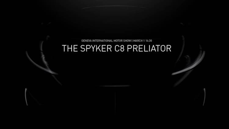 Spyker to reveal new C8 Preliator in Geneva