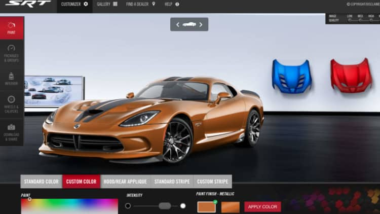 Dodge launches 1 of 1 Viper configurator