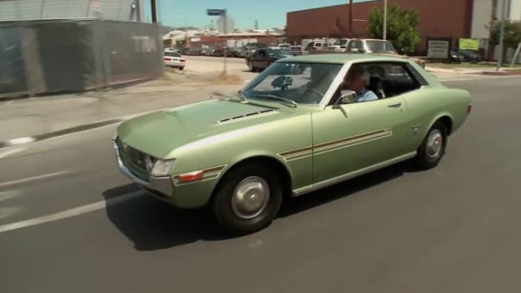 Vintage Toyota Celica stops in Jay Leno's Garage