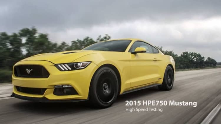 2015 Hennessey Ford Mustang hits 207.9 mph