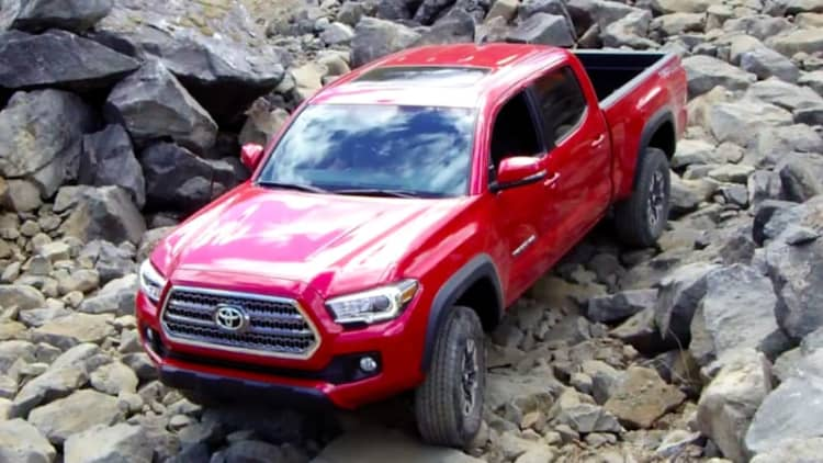On Location at an off-road park in the 2016 Toyota Tacoma