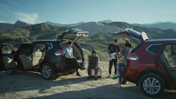 Indie rockers Local Natives perform from back of Nissan Rogue