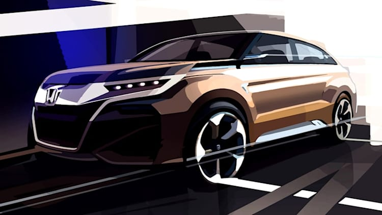 Honda sketches boxy crossover concept for Shanghai