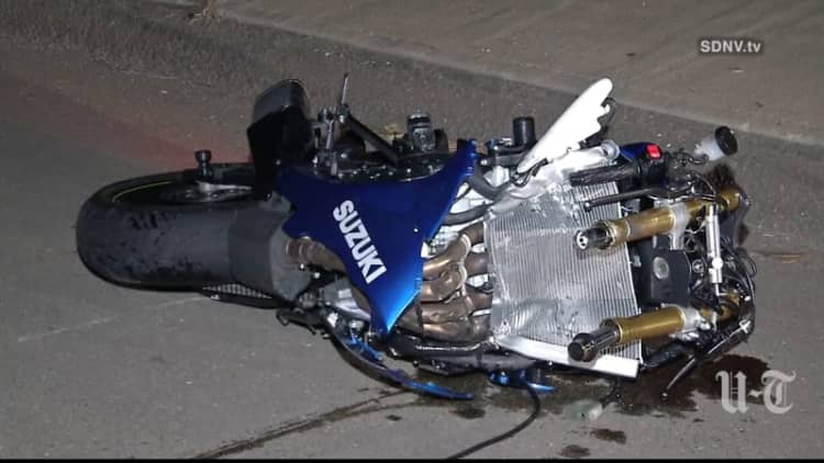 Motorcyclist lucky to escape with life after 100-mph crash