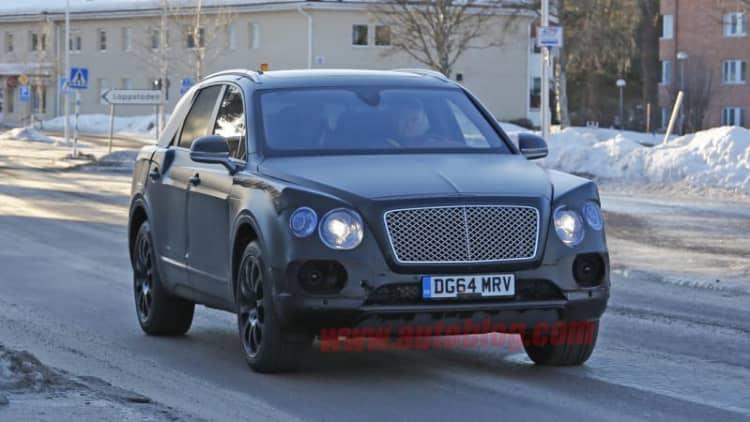 Bentley's upcoming Bentayga crossover sheds more camo