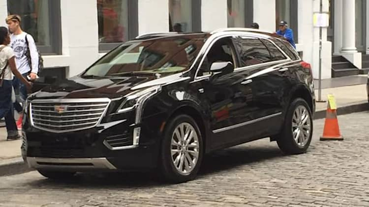 Cadillac XT5 caught uncovered during photo shoot