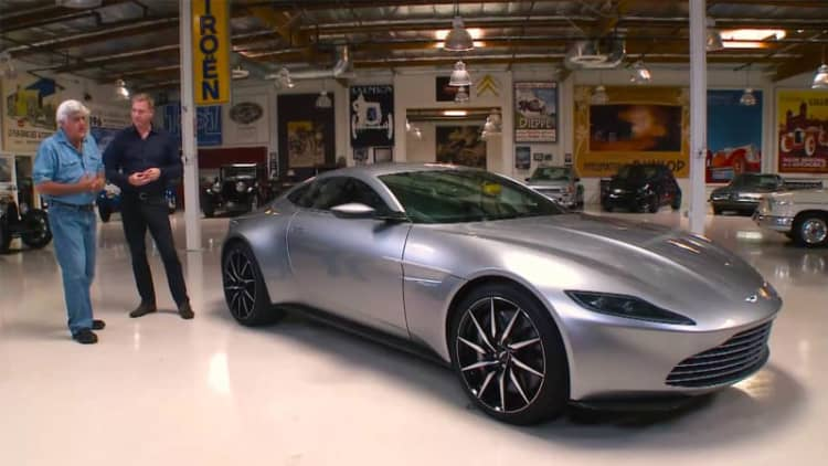 Jay Leno drives James Bond's new Aston Martin DB10
