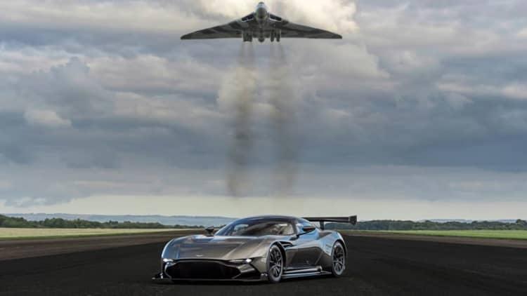 Aston Martin Vulcan meets Avro Vulcan [w/video]