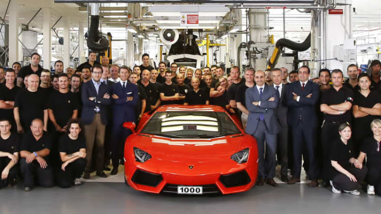 Lamborghini sold a record 3,245 supercars last year