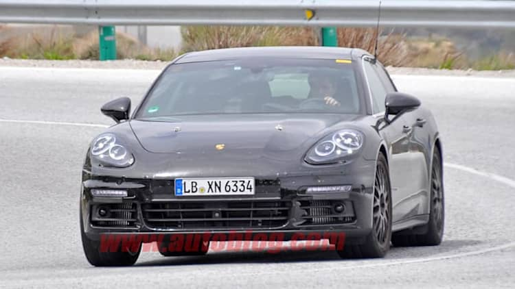Next-gen Porsche Panamera snapped running in E-Hybrid spec