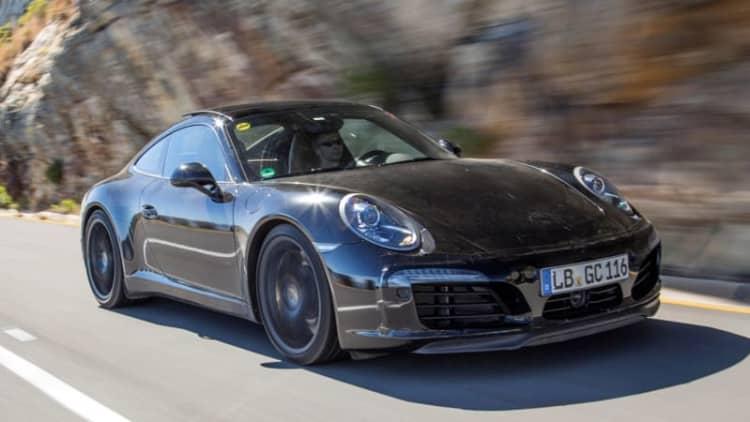 Porsche previews new 911 in development